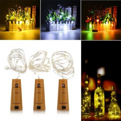 Батарея Powered 1M 20LEDs Cork Shaped Silver LED Starry Light Wine Bottle Лампа Для вечеринки