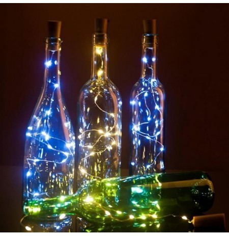 Details about  /Bottle Fairy String Lights Battery Cork Shaped Lamps Christmas Wedding Party HOT