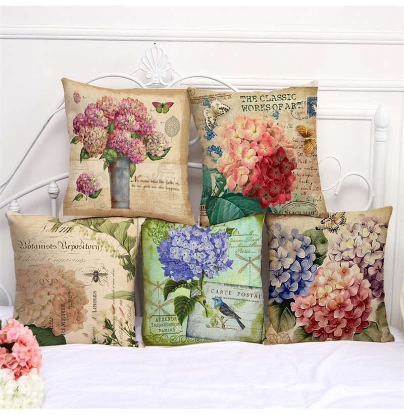45x45cm Flower Style Cartoon Decorative Sofa Pillow Case Modern Floral Printed Cushion Cover (Style: 4) фото
