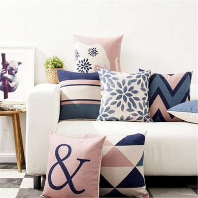 45 x 45 cm Decorative Throw Pillow Case Nordic Style Geometric Cotton Linen Cushion Cover For Sofa Home Decor