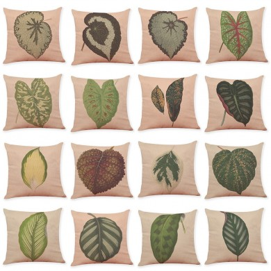 Honana Colorful Leaves Pattern Cotton Linen Throw Pillow Cushion Cover Car Home Sofa Decorative Pillowcase