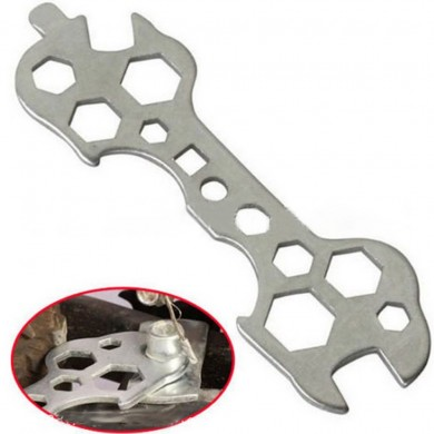 15 in 1 Practical Bicycle Cycling Bike Flat Hexagon Wrench Set Steel Hexagon Spanner Hand Repair Too