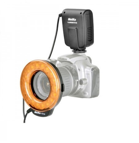 Meike FC110 FC-110 LED Macro Ring Flash Light with 7 Adapter Rings for Canon 6D 60D 1200D 550D 650D