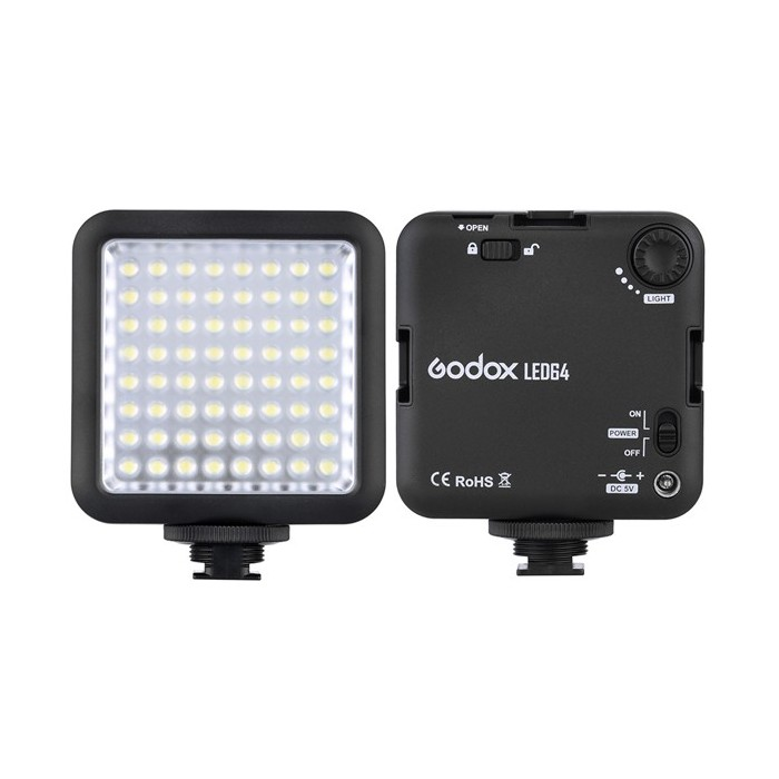 Godox LED64 LED Video Lampe für DSLR Kamera Camcorder Mini DVR Interview Makro Fotografie
