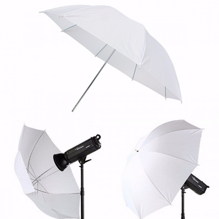 Color : As Shown, Size : Free Professional Photography Studio Flash Translucent White Soft Umbrella Studio Lighting Reflective Flash Soft Umbrella for Photo Shooting