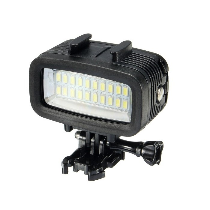 40m Underwater Waterproof High Power Dimmable LED Video POV Flash Fill Light for SJCAM XIAOMI Gopro