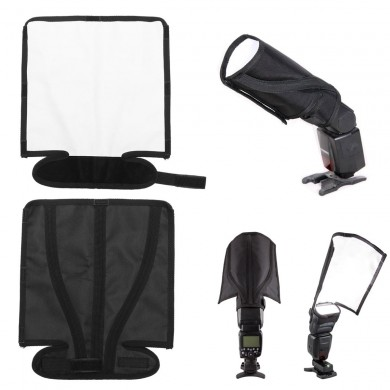 Foldable Flash Diffusers Speedlight Reflector Bender Beam Light Cloth Softbox