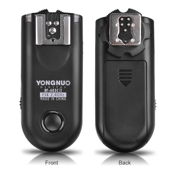 YONGNUO RF-603 II C1 Flash Trigger 2 Transceivers Set Shutter Release for Canon DSLR Camera