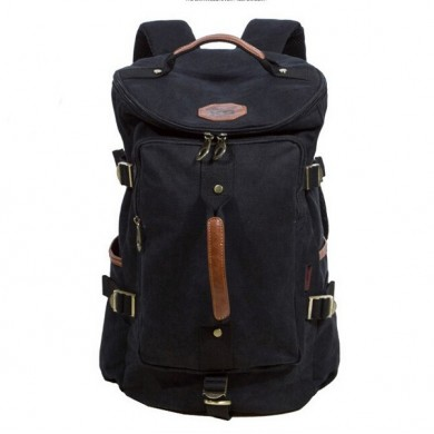 KAUKKO Vintage Canvas Messenger Rucksack Outdoor Hiking Camping Backpacks