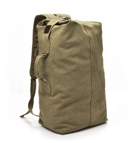 Men Canvas Casual Multifunctional Camping Backpack Handbag