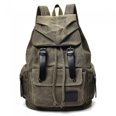 Vintage Canvas Casual Waterproof Outdoor Travel Backpack