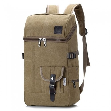 Men 35L Canvas Vintage Outdoor Travel  Backpack