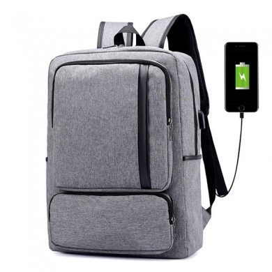 Oxford Business Casual USB de carga 16 pulgadas Backpac portátil