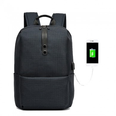Men Casual Backpack with USB Charging Port