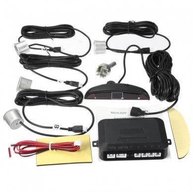 Sensors Kit Car Reverse Backup Rear LCD Display System Radar Alarm
