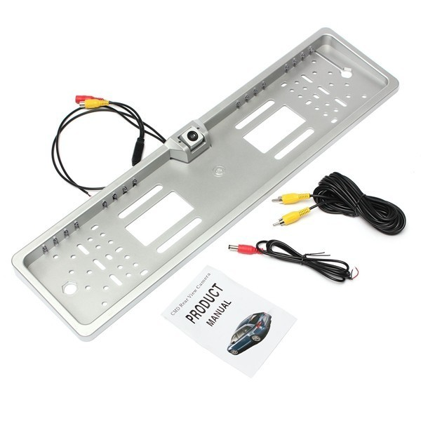 Car 16 LED Number Plate Frame Light Rear View Camera Backup Parking Reversing