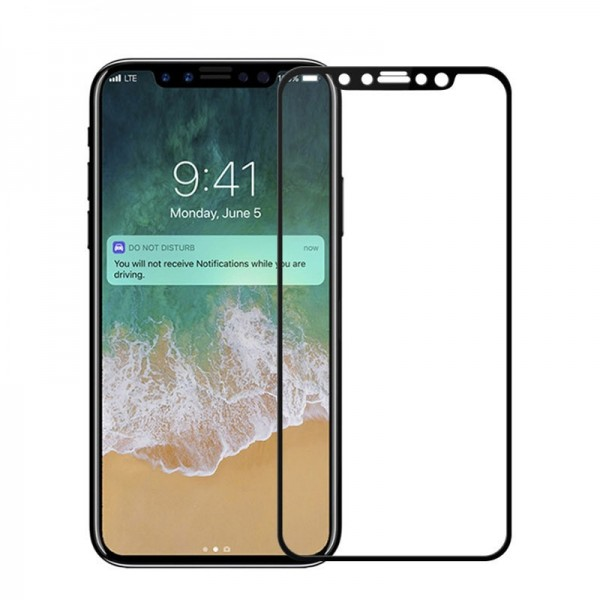 Bakeey 0.26mm 2.5D Arc Edge Full Cover Tempered Glass Screen Protector Film para iPhone X