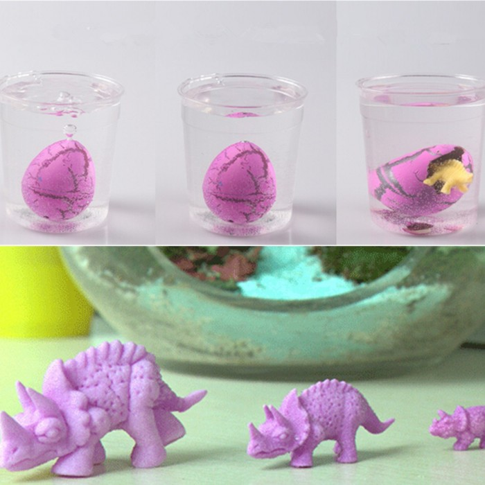 10 Pcs Dinosaur Eggs Mini Dinosaur toys Magic Hatching Growing Dinosaur egg