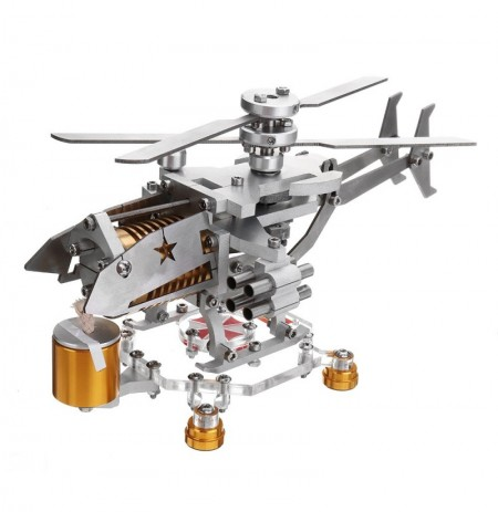 Upgrade Stirling Motor Modell Militärhubschrauber Design Science Metal Toy Collection