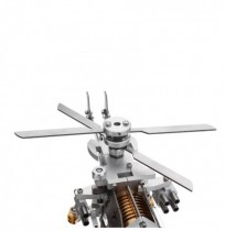 Upgrade Stirling Engine Model Military Helicopter Design Science Metal Toy Collection
