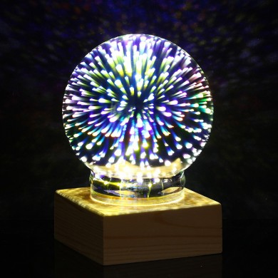 Actualización de la bola de plasma USB esfera Lightning Light Magia Crystal Desk Lámpara Globe Laptop Decor