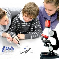 Microscope 100X 400X 1200X Zoom Biological Scientific Instruments Educational Kids ScienceToy