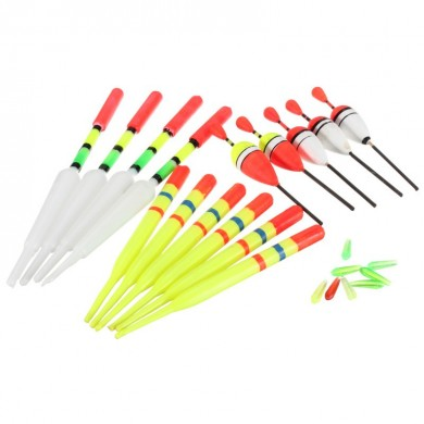 Pesca ZANLURE 15pcs Assorted lotti Lure Galleggianti Bobber slittamento Drift tubo Indicator Accessori