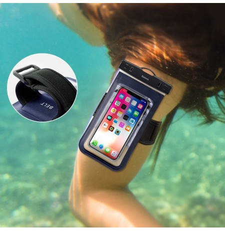 Baseus IPX8 Waterproof Screen Touch Arm Bag Phone Bag for iPhone Xiaomi Nubia Mobile Phone