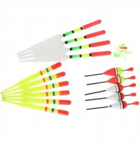 ZANLURE 15pcs Assorted Sizes Lot Fishing Lure Floats Bobbers Slip Drift Tube Indicator Accessories