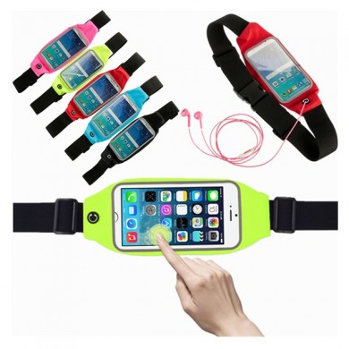 Waterproof Sweat-proof 4.7-5.3' Sports Zip Waist Belt Bag Case For Mobile Phone
