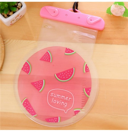 Universal PVC Fruit Shape IPX8 Waterproof Phone Caso Under Water Dry Bolsa para iPhone Samsung Xiaomi