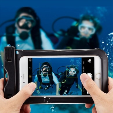 Universal IPX8 Waterproof Clear Touch Screen Phone Case Under Water Dry Bag for Phone under 6 inches
