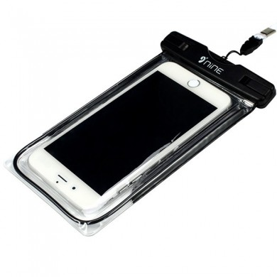 NINE Waterproof Fingerprint Touch Screen Fluorescence Phone Bag Case for Phone under 5.5 Inch