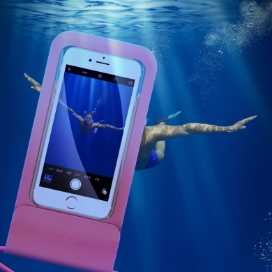 Rock IPX8 Waterproof Screen Touch Transparent Window Phone Bag for iPhone Xiaomi Under 6.0 inches