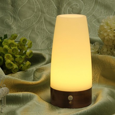 Wireless Motion Sensor Cylinder LED Night Light Battery Powered Lamp