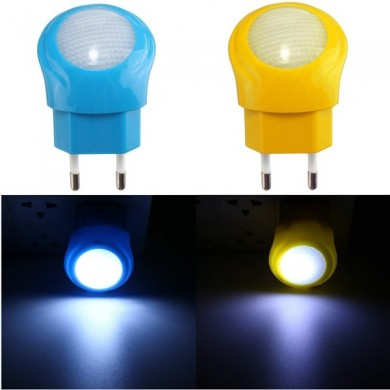 Mini EU Plug Auto Sensor LED 0.7W Night Light Smart Lamp Baby Room Bedroom