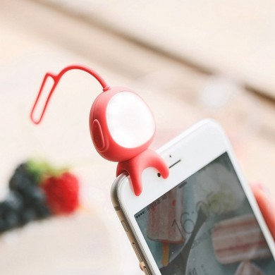 Bluetooth Rechargeable 3 Modes Selfie LED Flash Fill Light Clip Camera For All Phone