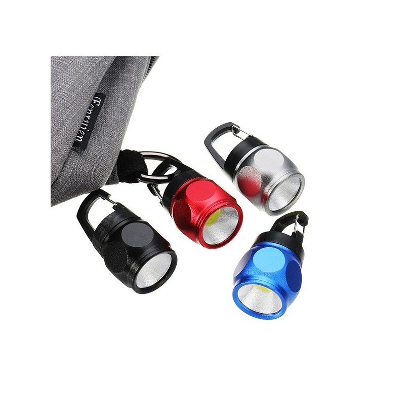 Mini COB Keychain Flashlight Night Light Aluminium Alloy Pocket Portable Emergency Lamp (Color: Silver) фото