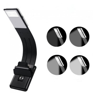 USB Rechargeable LED Reading Book Light Multifunctional Flexible Clip-on Night Lamp for Kindle IPad