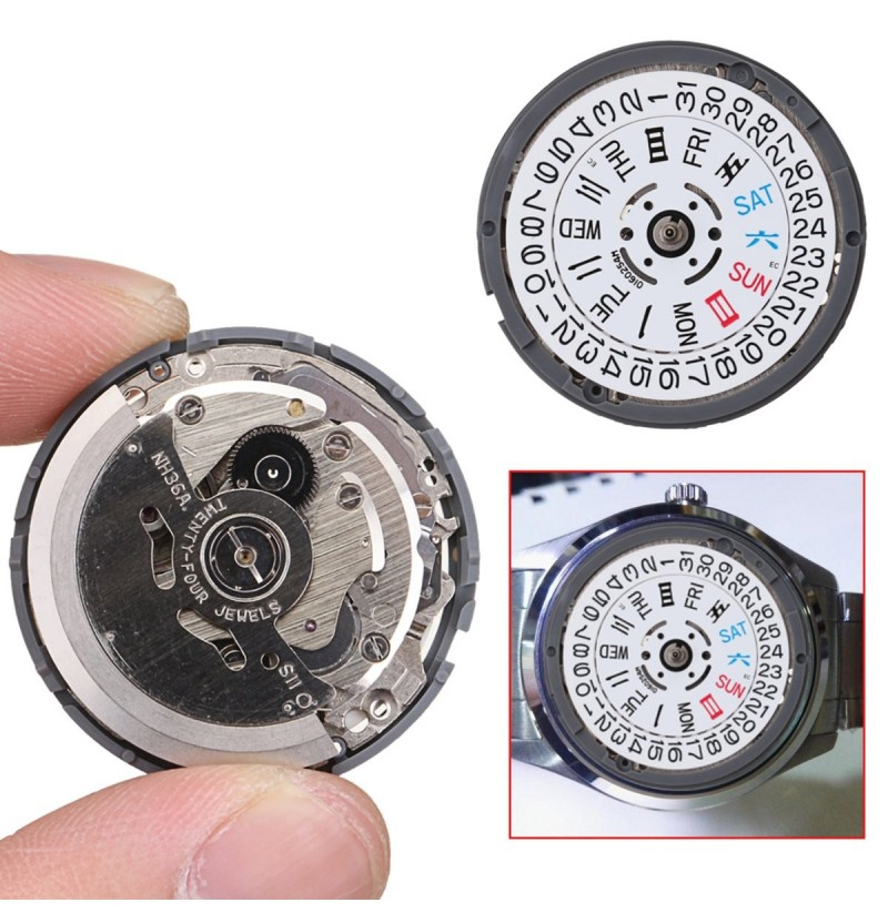 Japan Mechanical Automatic Watch Day Date Movement Wristwatch High Accuracy NH36 фото