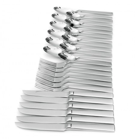 KCASA KC-ST002 High-end Stainless Steel 24 Pieces Flatware Set Dinnerware Set
