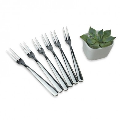 KCASA KC-FR001 1 Pc Stainless Steel Fruit Fork Dessert Cake Fork Kitchen Tools