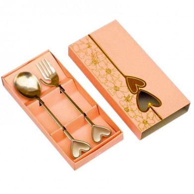 Portable Stainless Steel Fork and Spoon Set