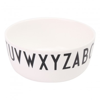 White Alphabet Bowl Kids Baby Toddler Feeding Anti-drop Dinner Snacks Safe Kids Bowl