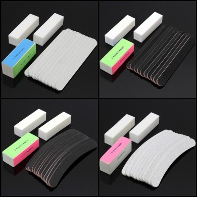 13Stk Nail Art Sanding Files Buffer UV Gel Block Pediküre Maniküre Werkzeuge Set