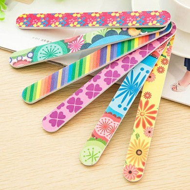 50Pcs Colorful Sanding Nail Art Files Buffer Block Manicure