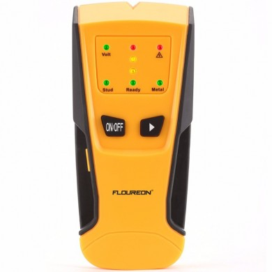 Floureon 3 in 1 Metal Detector AC Live Wire Detector Stud Finder Detector LED Light Beep Indication Auto Calibration