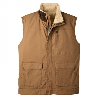 Mens Winter Fleece Warm Mountain Ranch Shearling Vest