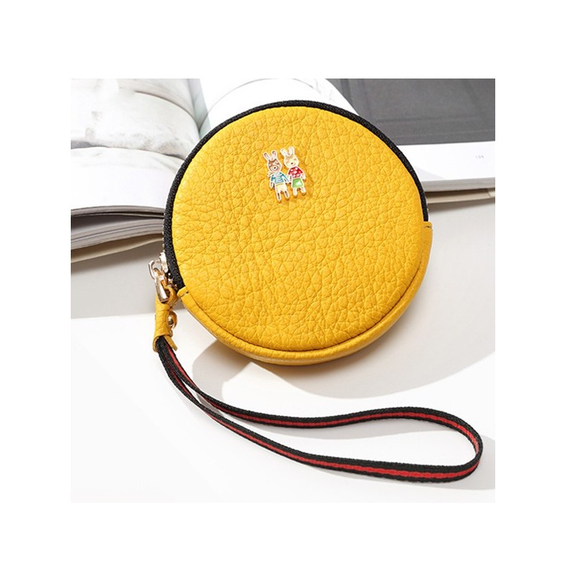 Genuine Leather Purse Fresh Personality Coin Bag Key Bag (Color: Red) фото