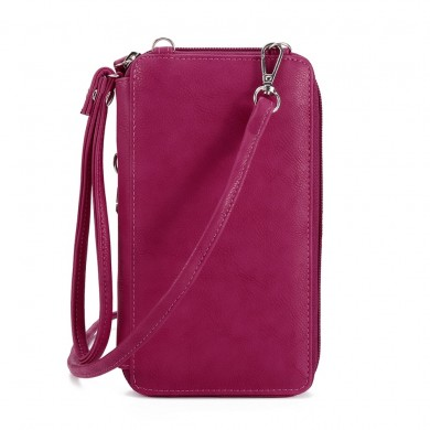 Brenice Women RFID Card Bag Solid Crossbody Bag